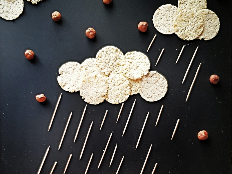 Nuts rain picture poster minimalism collage photoshop design illustration photography art photo
