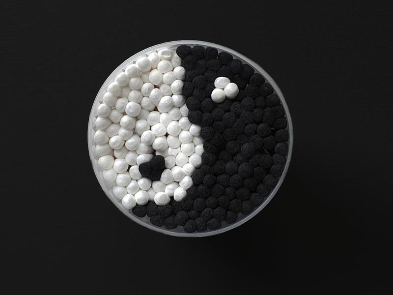 Cotton Balance black creative concept picture poster minimalism photography art photo balance cotton