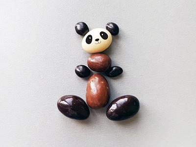 Choco Panda motion clean cute creative concept fun montage minimalism poster art picture photoshop photography photo illustration design collage panda chocolat