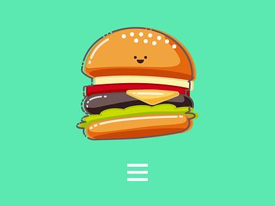 Hamburger Menu Icon pixelgami print hamburger icon cute cartoon