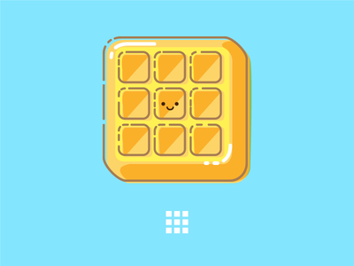 Waffle Menu Icon print illustration pixelgami icon waffle cute cartoon