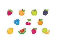 Boba Tea Fruit Flavors Icons