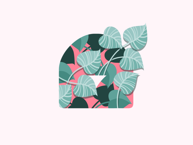 Logomark Leaf Illustration typography print pixelgami vines tropical plants leaves silhouette logomark logo illustration