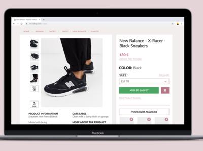 Daily UI :: 012 :: Single Item (E-commerce)