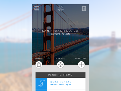 New Itinerary app mobile material ios ui