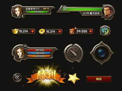 Three Kingdoms 18x Game UI visual design project summary logo icon gameui gameart