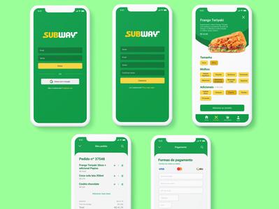 Subway's app redesign concept
