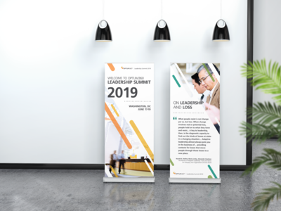 Banner Design for Leadership Summit