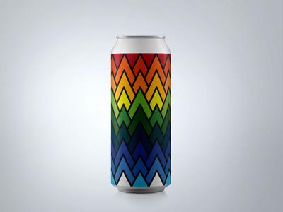 """Rainbow Peaks"" Can Design : Ventura Coast Brewery"