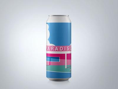 """Endless Paradise"" Can Design : Ventura Coast Brewery"
