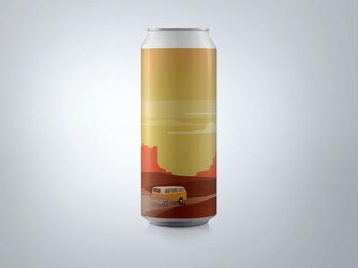 """Roads Ahead"" Can Design : Ventura Coast Brewery"