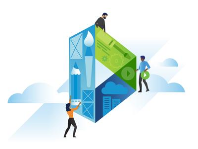VMware Design homepage illustration