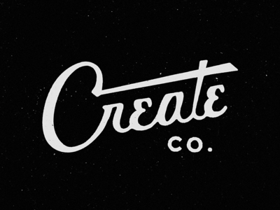 Create Co. #2 create co. crate furniture logo branding lettering