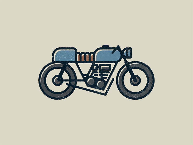 Moto illustration motorcycle cafe racer design moto vector print bike motorcycles