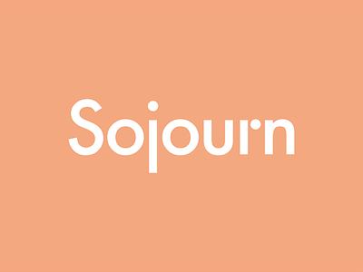 Sojourn logo word mark identity editorial header zine magazine modern sojourn branding lettering typography