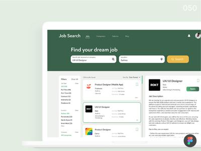 Job Listing_DailyUI 050