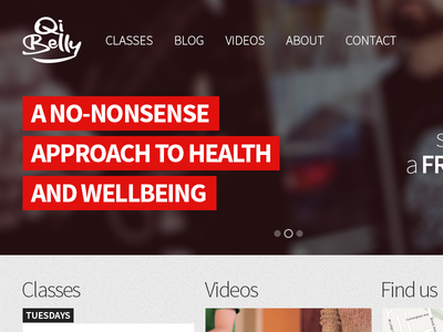 QiBelly Redesign - Home page