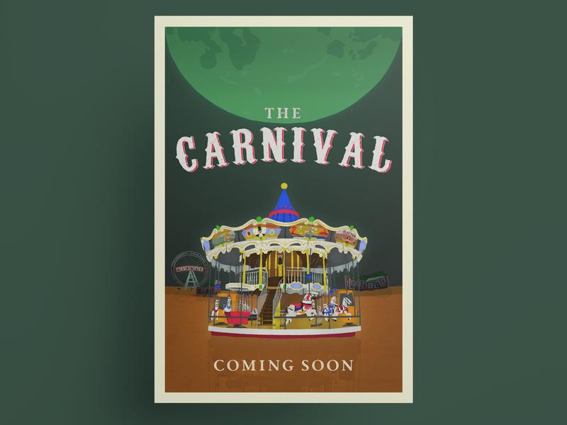 The Carnival movie poster typography poster design poster movie poster fantasy movie horror movie drawing vector vectorart illustration anthonyboydgraphics adobeillustrator adobe fresco