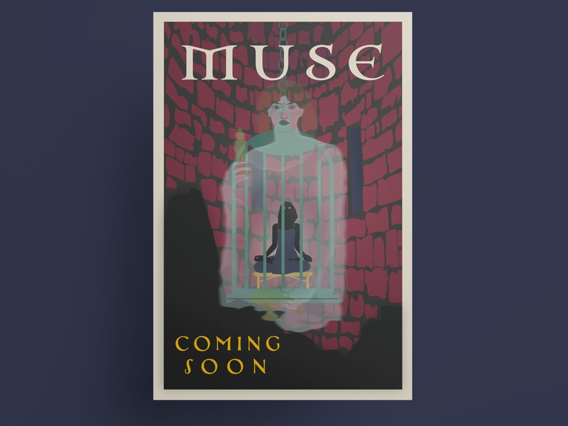 Muse movie poster poster art movie poster mythology typography vector vector illustration hand drawing anythonyboydgraphics adobe illustrator adobe fresco