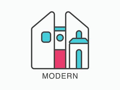 Revised House Exterior Icon Set minimalist iconography exterior home house architecture illustration vector icon design iconset icons icon set icon