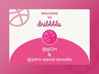Welcome to Dribbble, Michael and John! welcome drafted draftee dribbble draft draft new member dribbble invitation invitation dribbble invite dribbble