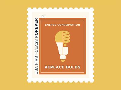 Energy Conservation postage stamps energy conservation stamps postage stamp icondesign icons icon minimalist minimalism minimal vector illustration vector art vector