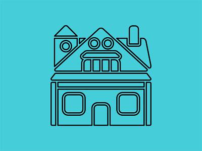 House exterior icons - black adobe illustrator minimalist illustration vector architecture building house iconography icon design icons icon