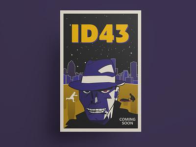 ID43 movie poster typography vector comic artwork comic art comic book comic vector illustration vector art illustration movie poster poster design poster film noir adobe illustrator