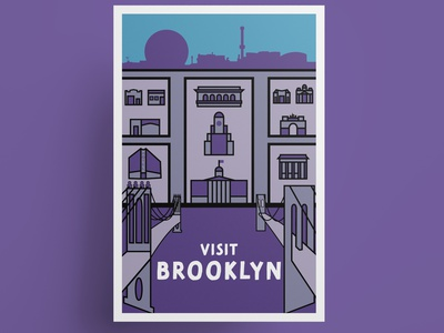 Brooklyn vintage travel poster i heart new york i love new york nyc new york city new york brooklyn new york brooklyn vintage travel poster travel poster illustration vector illustration vector art vector poster art poster design poster