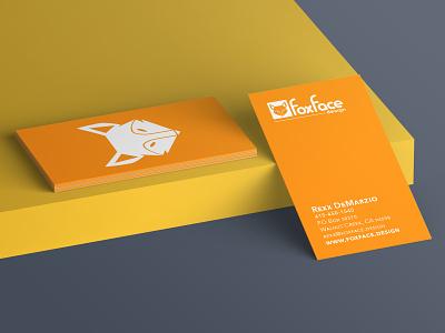 Foxface Design business card mockup design branding design brand design mockup businesscard logodesign logo branding brand