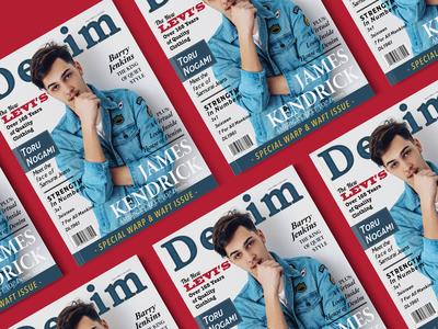 Denim Magazine Cover