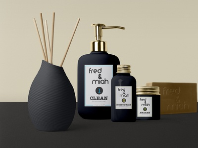 fred & miah Cosmetics Labels