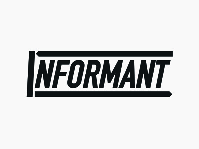 Informant Logo minimal icon typography adobe illustrator information journalism news branding designer brand designer branding design brand design branding brand logo designer logo design logos logo design graphic design