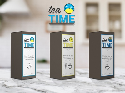 tea TIME - labels and packaging mockup