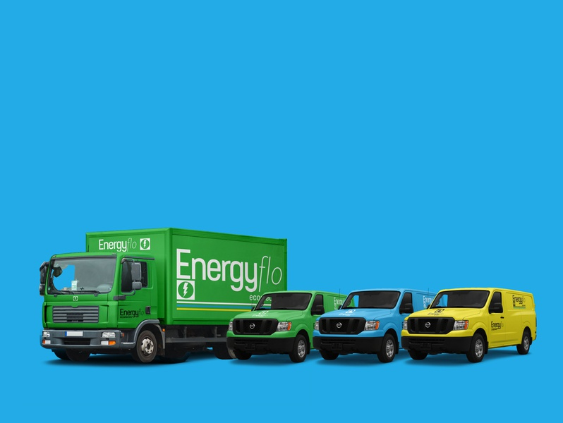 Energyflo vehicle wraps icon signage vehicle branding vehicle wrap corporate branding minimal logos logo designer typography branding designer branding branddesigner branddesign brand adobe photoshop adobe illustrator
