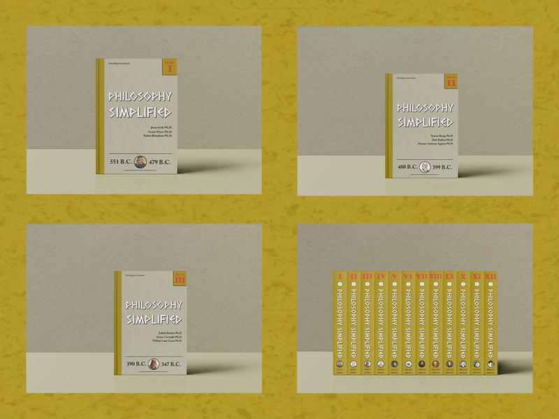 Philosophy Simplified - book cover designs philosophy book design book cover textbook minimalism vector typography design adobe photoshop adobe illustrator