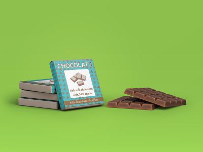 CHOCOLAT3 - chocolate bar wrap package mockup packaging package design vector typography logo brand brand design branding adobe photoshop adobe illustrator