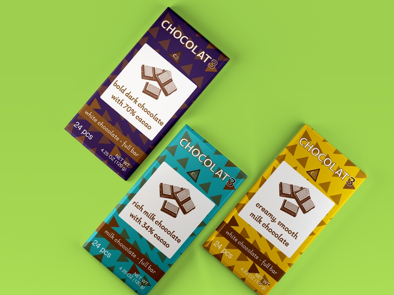 CHOCOLATE3 full bar wraps vector typography packaging package mockup package design logo branding brand design brand adobe photoshop adobe illustrator