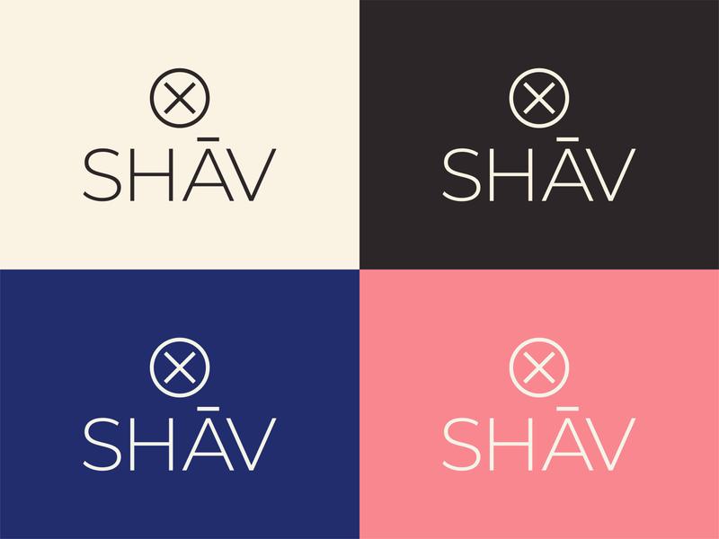 SHĀV logos icon graphic design minimal typography vector branding design logo brand design branding adobe illustrator