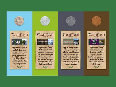 Tartan scented candle labels scotland textures scented candles candles packaging labels graphic design adobe photoshop adobe illustrator vector typography logo brand design branding