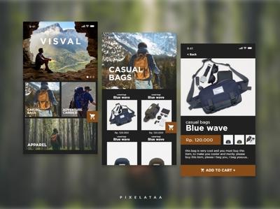 Fake Project | UI Exploration for Visval mobile web