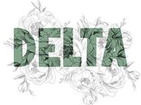 "Phonetic Alphabet Lettering ""Delta"""