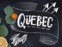"Phonetic Alphabet Lettering ""Quebec"""