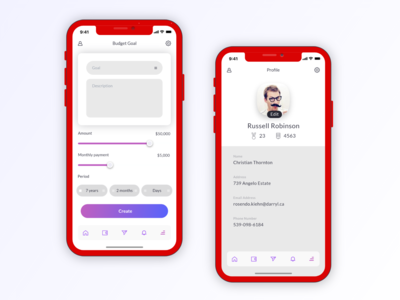 iOS App Design - Financial
