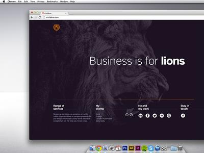 Personal website crislabno folio webdesign