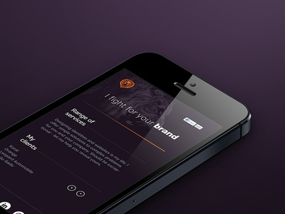 Personal website / mobile