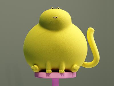 Quarantine startup illustration render design 3d set c4d cat