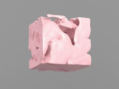 COOLIO Cube ;) morph shape cube pink crislabno ae motion xparticle moves cool volume noise mograph c4d 3d