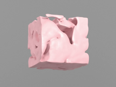 COOLIO Cube ;) morph shape cube pink crislabno ae motion xparticle moves cool volume noise mograph c4d 3d
