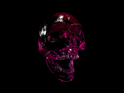 Flowfield test designer ui dark art render redshift xparticles crislabno 90 skull cinema4d c4d 3d